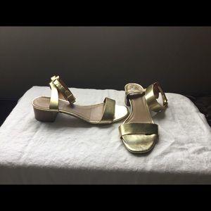 JCrew metallic gold leather sandals size 8